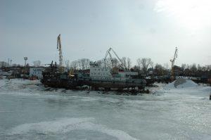 Впервые в истории завода подъём судна водоизмещением 666тонн. Проект Р153